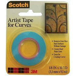 "Scotch Artist Tape for Curves 1/8"" X 10 Yds"