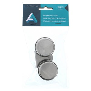 Double Stainless Steel Palette Cups w/Lids