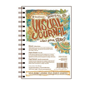 "Strathmore Visual Journal - Vellum Bristol - 24 Sheet Pad 5.5"" x 8"""