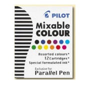 Pilot Parallel Pen Ink Refill - 12 color assorted