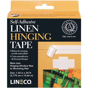 "Linen Hinging Tape - Self Adhesive 1 1/4"" X 400"""