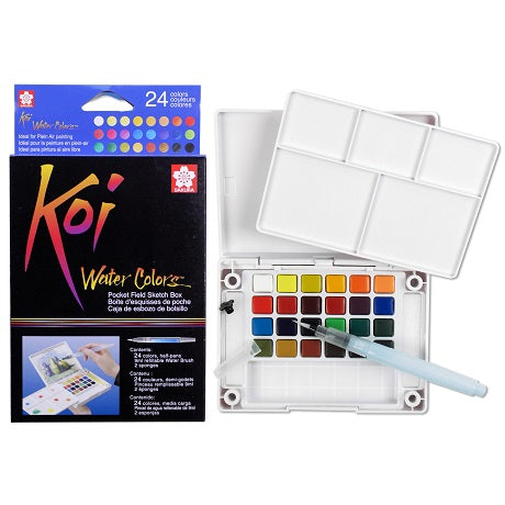 Koi Watercolor 24 color pocket set