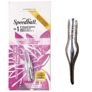 Speedball Lino cutter blades #1 (2 pack)