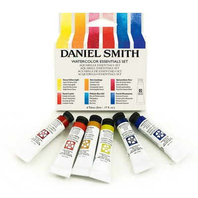 Daniel Smith Watercolor Essentials Set of 6 (5ml tubes)