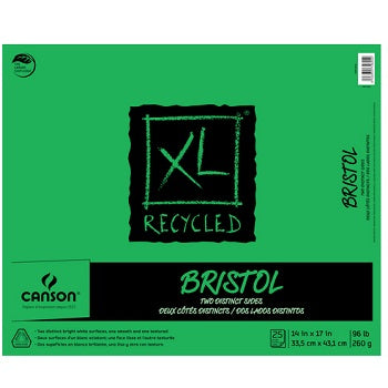 "Canson XL Recycled Bristol - 25 Sheet Pad - 14""X17"""