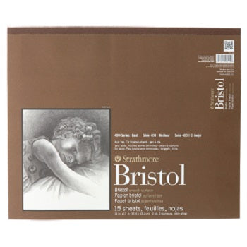 Strathmore 400 Series Smooth Bristol - 15 Sheet Pad - 14X17