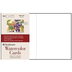 "Strathmore Watercolor Cards with Envelopes 5"" X 6.875"" - 50 Pack"