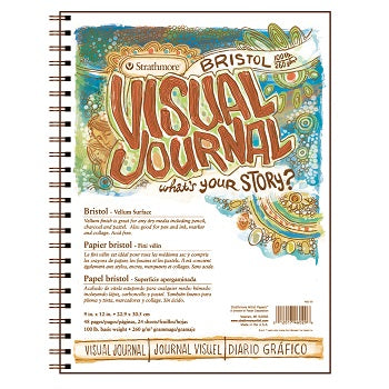 "Strathmore Visual Journal - Vellum Bristol - 24 Sheet Pad 9"" x 12"""