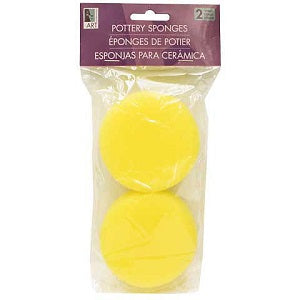 Round Pottery Sponge - 2 pack