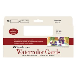 "Strathmore Watercolor Slim Size Cards with Envelopes - 3.875"" X 9"" 10 Pack"