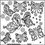 Crafters Workshop Stencil 6X6 - Butterflies