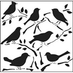 Crafters Workshop Stencil 6X6 - Birds