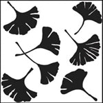 Crafters Workshop Stencil 6X6 - Ginkgo Leaves