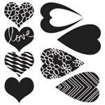 Crafters Workshop Stencil 6X6 - Hearts Mix & Match