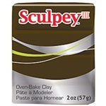 Sculpey III   2 oz - Suede Brown