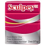 Sculpey III   2 oz - Deep Red Pearl