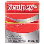 Sculpey III   2 oz - Red Hot Red