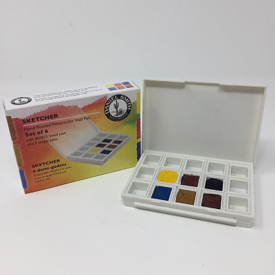 Daniel Smith Extra Fine Watercolor 6 Half Pan Set - Sketcher package
