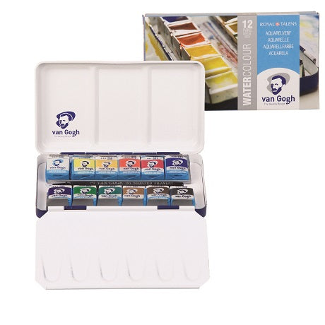 Van Gogh Watercolor 12 Pan Metal Set 20M8612