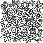 Crafters Workshop Stencil 6X6 - Daisy Cluster