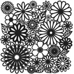 Crafters Workshop Stencil 6X6 - Flower Frenzy