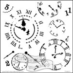 Crafters Workshop Stencil 6X6 - Time Travel