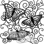 Crafters Workshop Stencil 6X6 - Flutterby