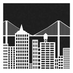 Crafters Workshop Stencil 6X6 - Cityscape