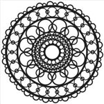 Crafters Workshop Stencil 6X6 - Ring Doily