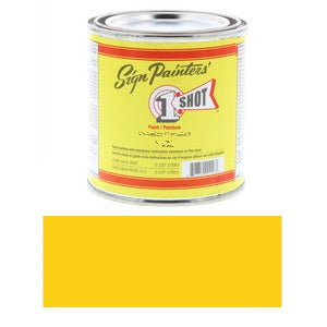 1 Shot Lettering Enamel 8 fl oz - Chrome Yellow