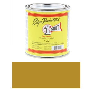 1 Shot Lettering Enamel 8 fl oz - Metallic Gold