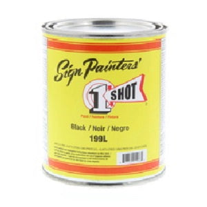 1 Shot Lettering Enamel 16 fl oz - Black
