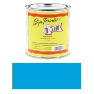 1 Shot Lettering Enamel 8 fl oz - Process Blue