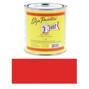 1 Shot Lettering Enamel 8 fl oz - Fire Red