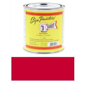 1 Shot Lettering Enamel 8 fl oz - Bright Red (ORM-D)