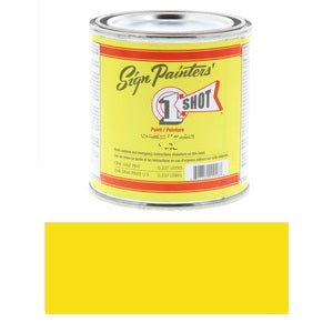 1 Shot Lettering Enamel 8 fl oz - Lemon Yellow