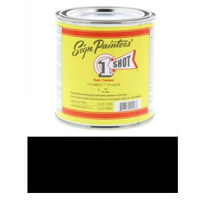 1 Shot Lettering Enamel 8 fl oz - Black