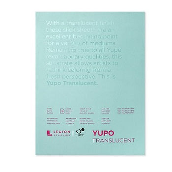 Yupo Pad - Translucent - 15 sheets  9x12