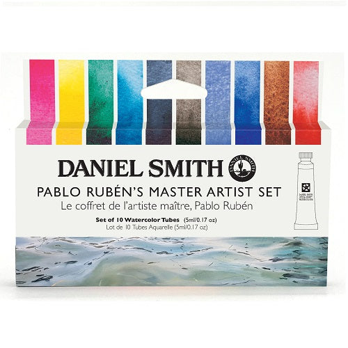 Daniel Smith Watercolor 10 Color Pablo Ruben's Master Artist Set (10 X 5ml tubes)