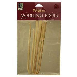 Miniature Boxwood Modeling Tools - 6 piece set