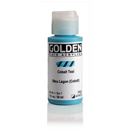 Golden Fluid Acrylic Cobalt Teal 1 oz