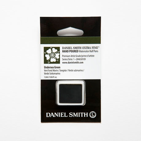 Daniel Smith Extra Fine Watercolor Half Pan - Undersea  Green