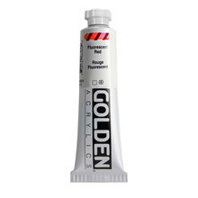 Golden Heavy Body Acrylic Fluorescent Red 2 oz