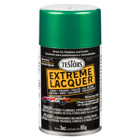 Testors Extreme (one coat) Spray Lacquer 3 oz - Mystic Emerald