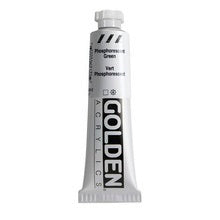 Golden Heavy Body Acrylic Phosphorescent Green 2 oz