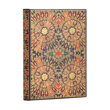 "Paperblanks Fire Flowers Midi 5""x 7""  Unlined -  240 Pages"