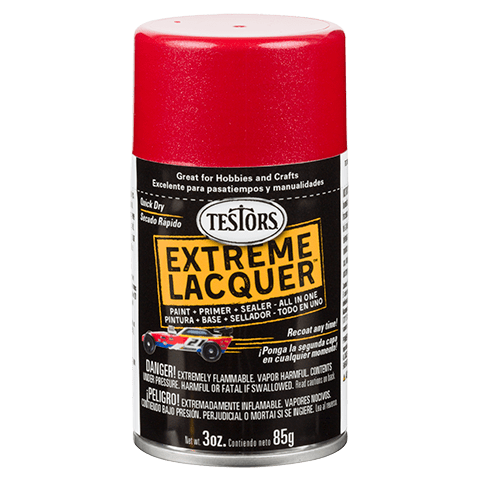 Testors Extreme (one coat) Spray Lacquer 3 oz - Reving Red
