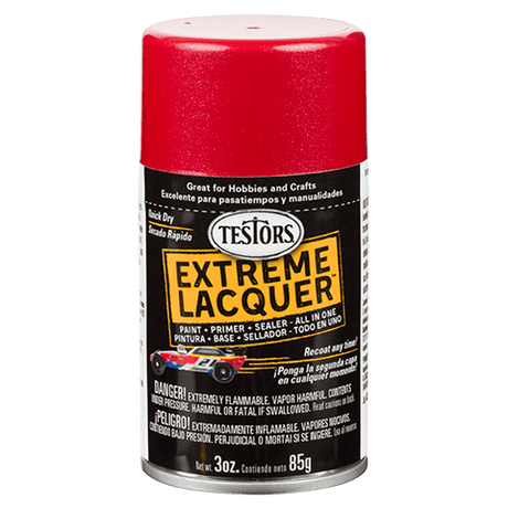 Testors Extreme (one coat) Spray Lacquer 3 oz - Reving Red (ORM-D)