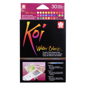 Koi Watercolor Pocket Field Sketch Box Set of 30