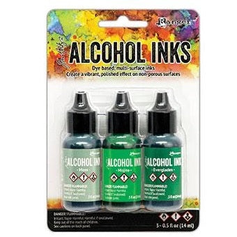 Tim Holtz Alcohol Ink Set of 3 - Mint/Green Spectrum (new colors!)